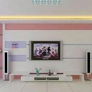 粉色系背景墙装修