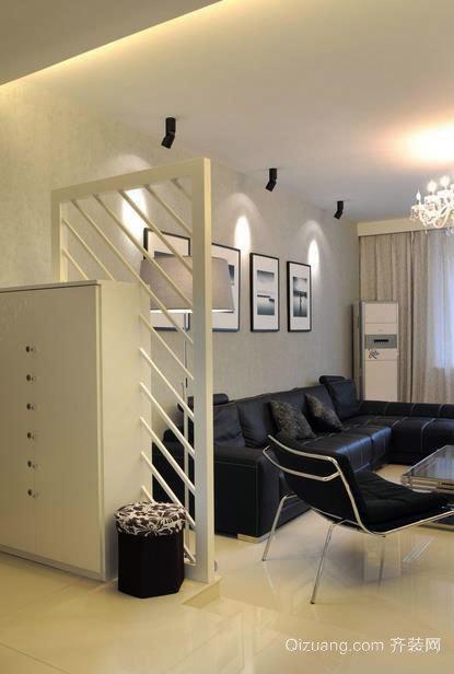 二居室现代客厅隔断装修效果图大全