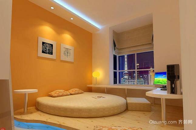 清新自然的田园风格卧室榻榻米装修效果图