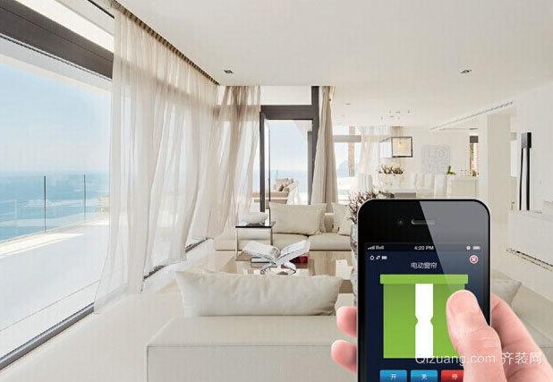 可以控制采光的电动窗帘效果图