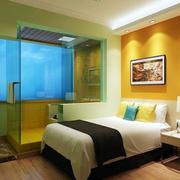 酒店卧室隔断装修图