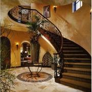 美式旋转楼梯设计