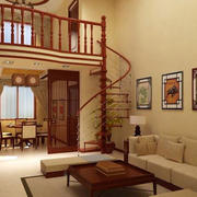 原木装修复式楼设计