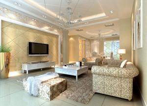 时尚宜家的大户型客厅石膏线效果图素材大全