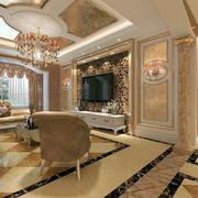欧式精致客厅装修