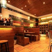 咖啡厅原木装修