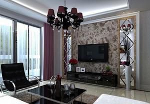 别墅客厅背景墙装修之地中海风格装修效果图