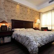田园气息卧室壁纸设计