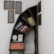 创意弧形书柜设计