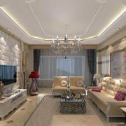 欧式石膏板电视墙设计