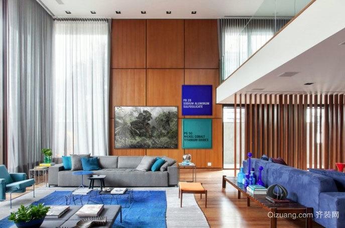 采光好的多彩200平米高挑复式楼客厅装修效果图
