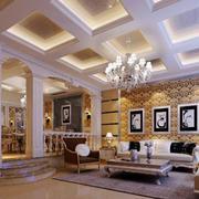 欧式别墅客厅灯饰设计
