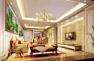 欧式客厅石膏线设计