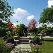 别墅花园小径装修