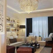 客厅镂空花纹隔断设计