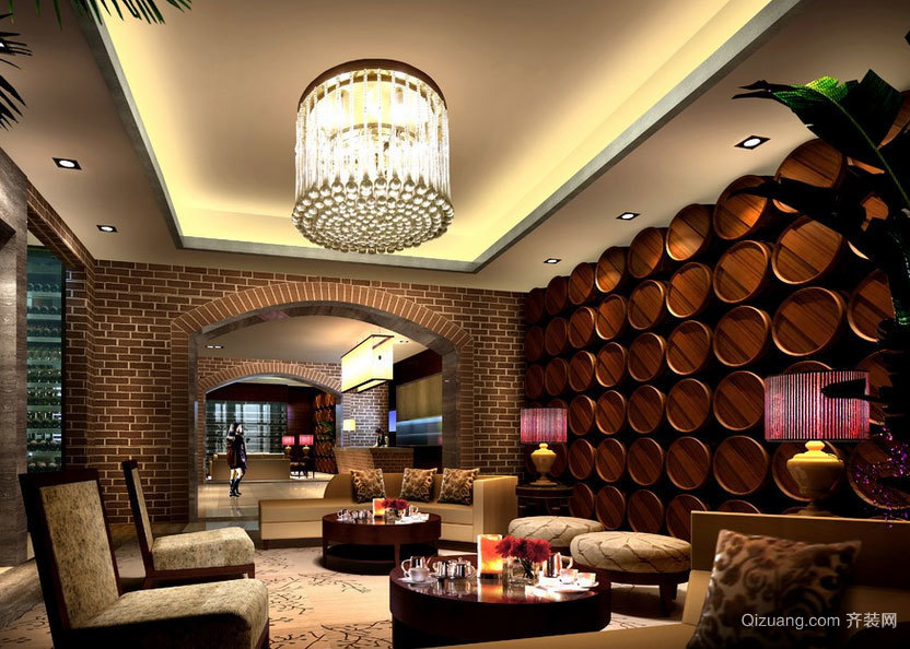 浓浓的酒香:别墅酒窖设计效果图素材大全