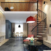 北欧风格旋转楼梯设计