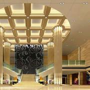 酒店圆形简约吊顶设计