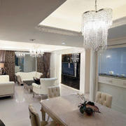 客厅珠帘灯饰装修