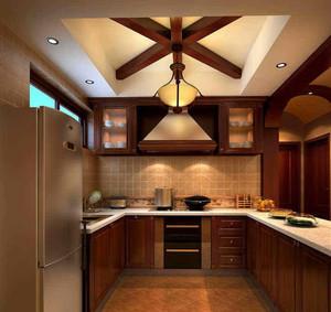 欧式U型厨房设计