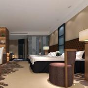 酒店卧室桌椅装修