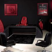 黑色办公桌设计