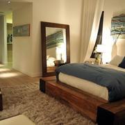 木制卧室榻榻米效果图