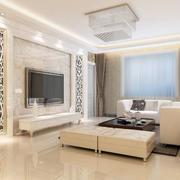 白色简约电视背景墙设计