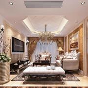 欧式客厅简约风格吊顶