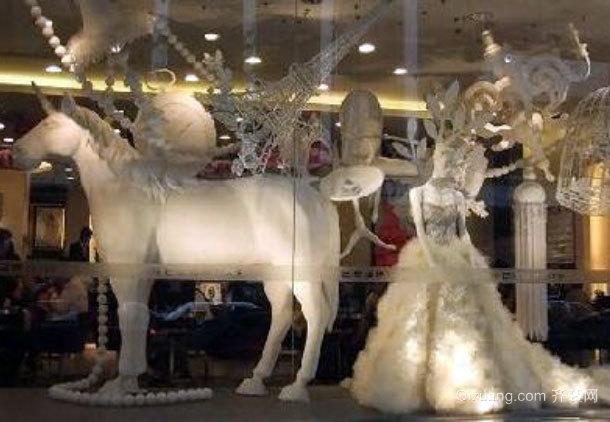 2015简约风格婚纱橱窗设计装修效果图