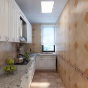 窄长L型厨房装修