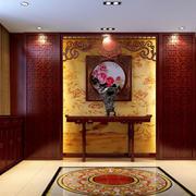 古韵门厅背景墙设计