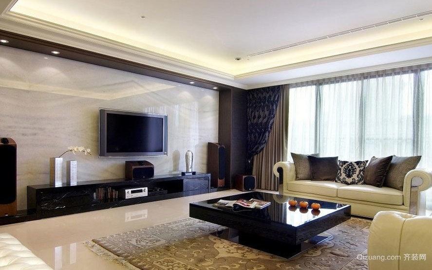 奢华大气的都市两室两厅吊顶装修效果图素材欣赏