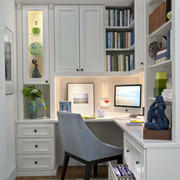 欧式书房整体书柜设计