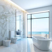 白色现代简约风格浴缸装修