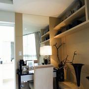 公寓客厅博古架设计