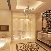欧式奢华卫生间吊灯设计