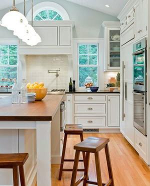 50平米开放式厨房整体橱柜装修效果图