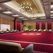 会客区红色地毯设计