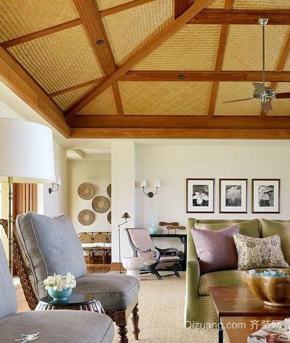 异域风情:100平米东南亚风格客厅装修效果图