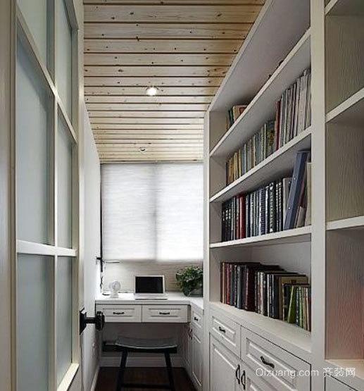 2015全新简约风格狭长小书房装修效果图