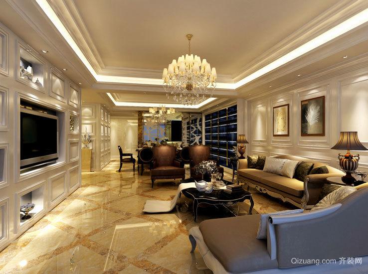 别墅型欧式客厅微晶石瓷砖装修效果图鉴赏