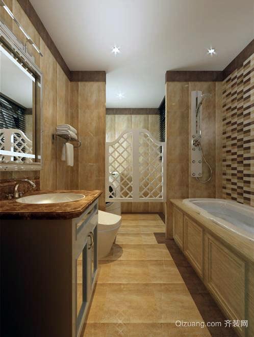 至尊享受:家用豪华浴室按摩浴缸装修效果图