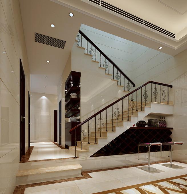 2015欧式简约复式楼楼梯平面装修效果图