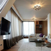 客厅飘逸窗帘设计