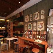 咖啡厅复古吧台设计