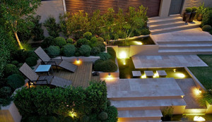 高级住宅区的别墅美丽清新景观装修设计效果图