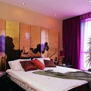 卧室紫色飘窗设计