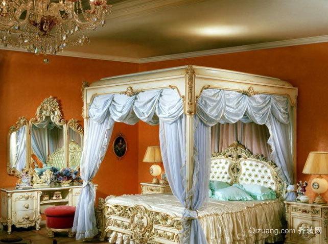 小别墅精致欧式奢华卧室梳妆台装修效果图