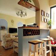 客厅吧台隔断设计